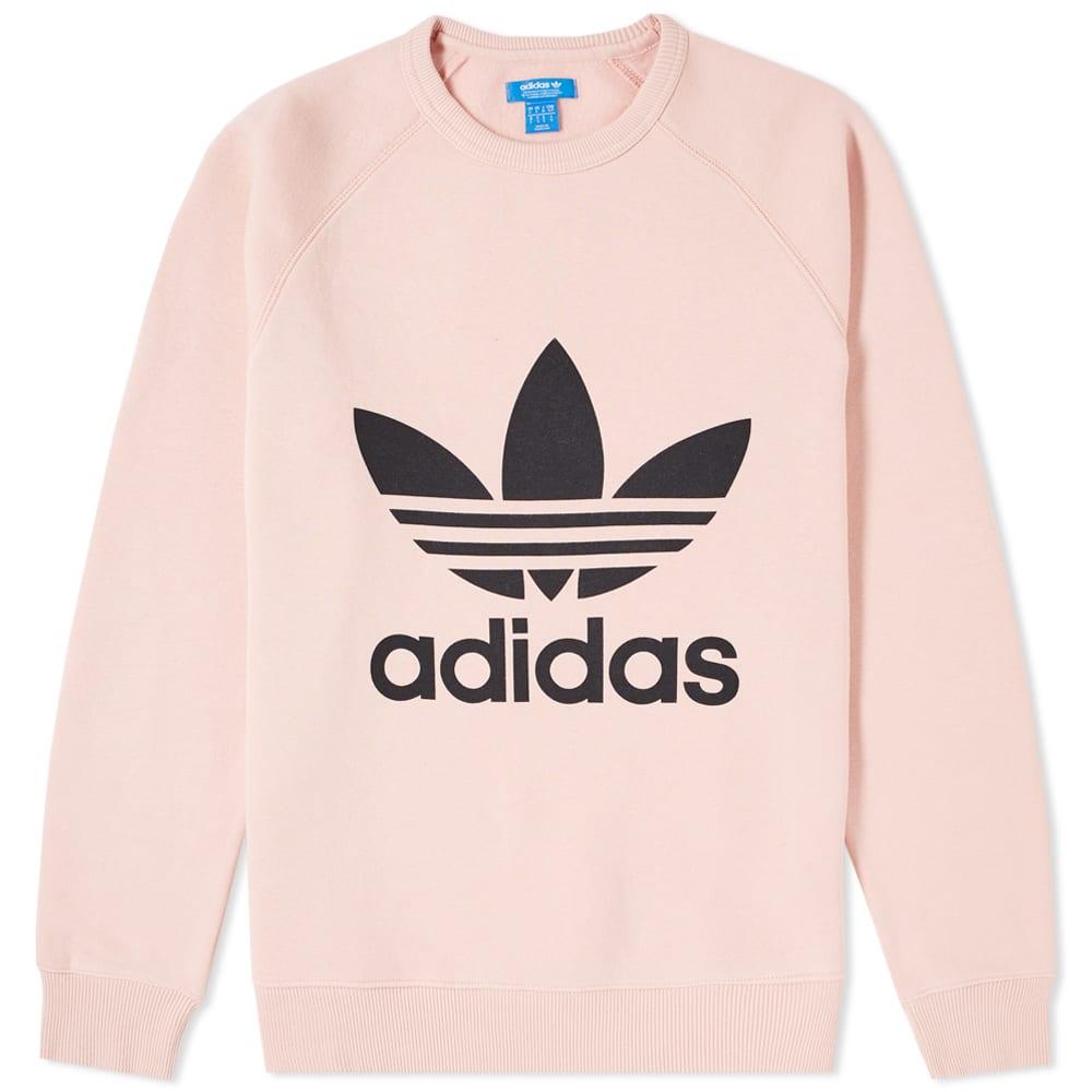d3c0b6fd447e Adidas Original Trefoil Crew Sweat Vapour Pink | END.