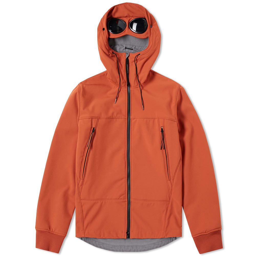 C P Company Softshell Goggle Jacket Burnt Orange End