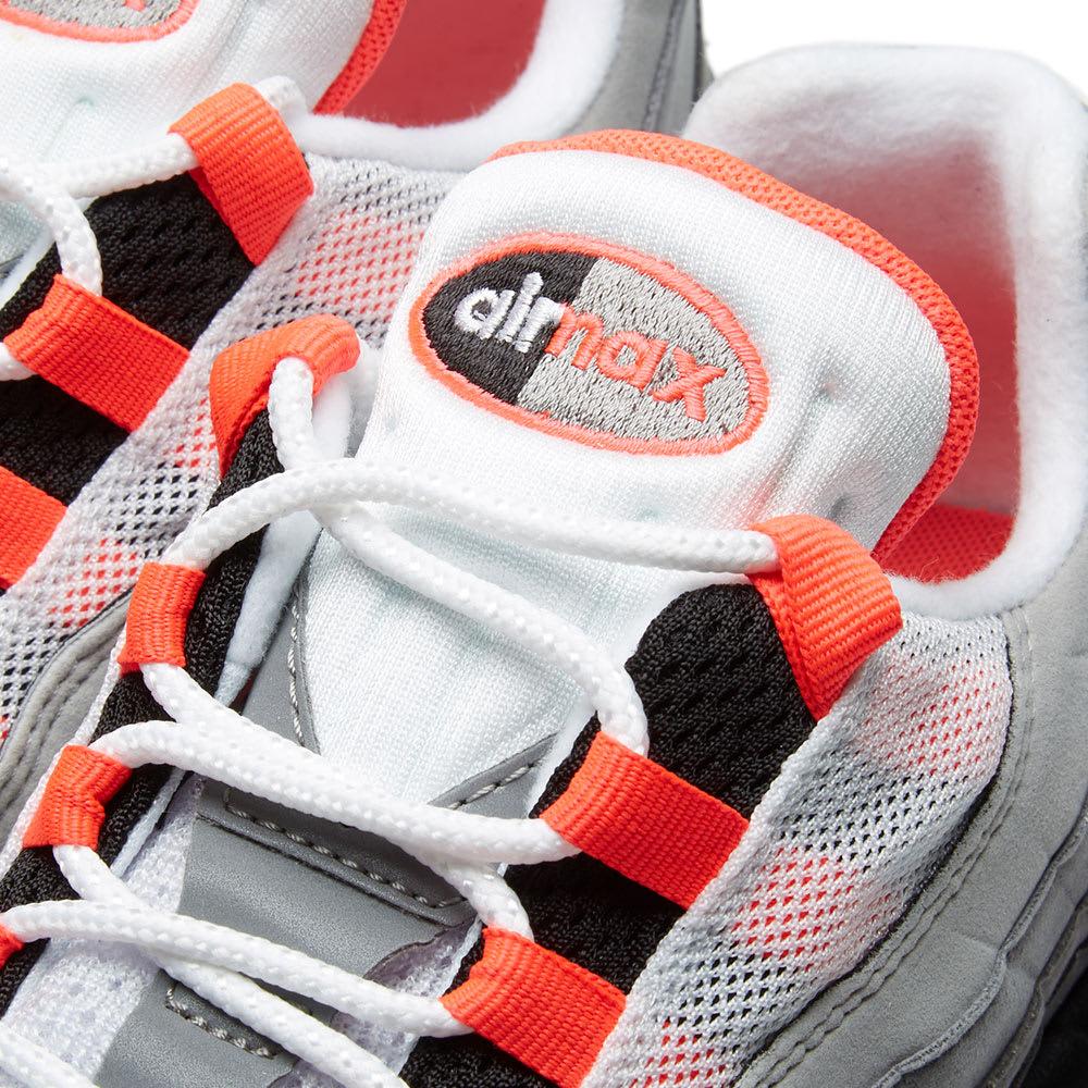 purchase cheap 295e2 e1ca3 Nike Air Max 95 White   Solar Red   END.