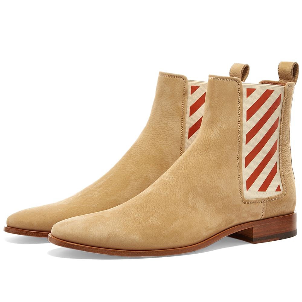 01a4316cabd Off-White Diagonals Chelsea Boot