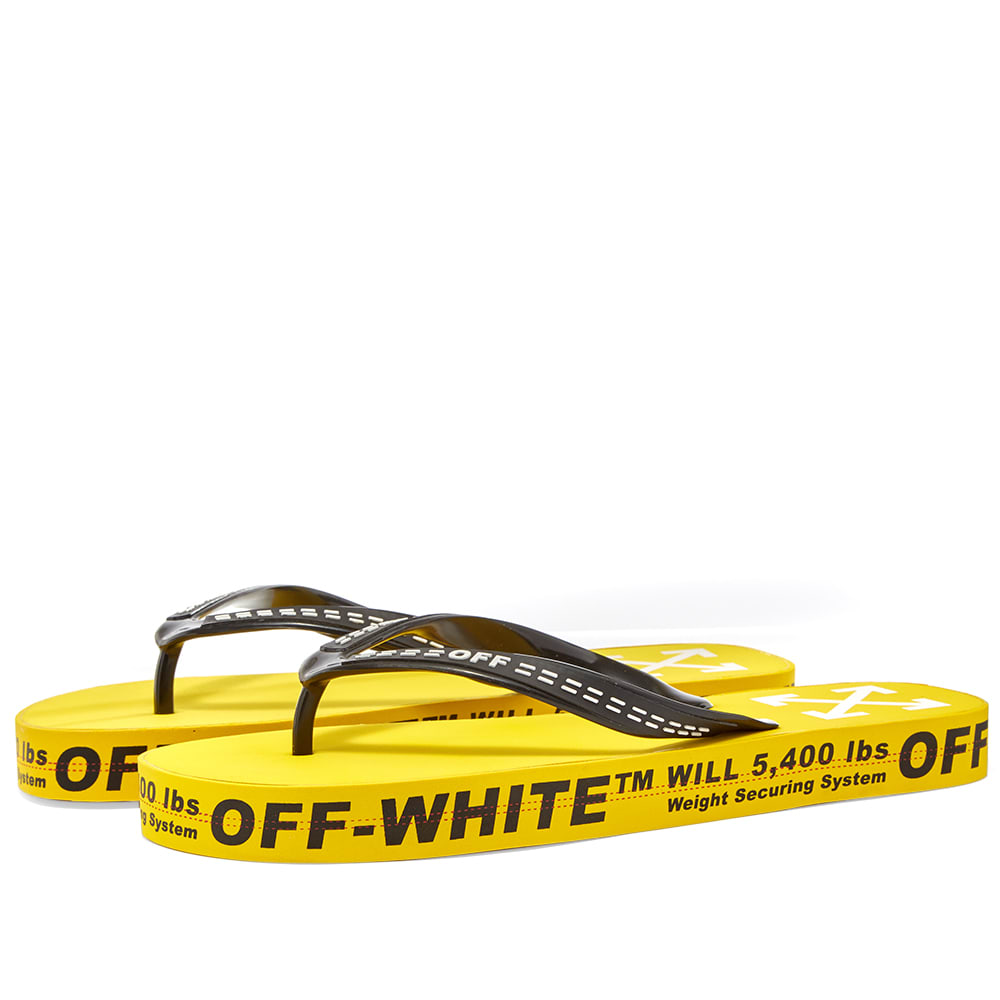 Off-White Industrial Flip Flop Yellow