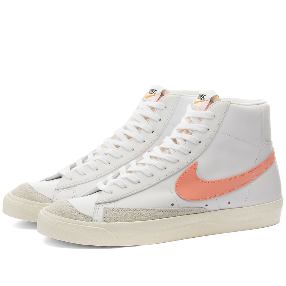 Nike Blazer Mid 77 W White, Atomic Pink