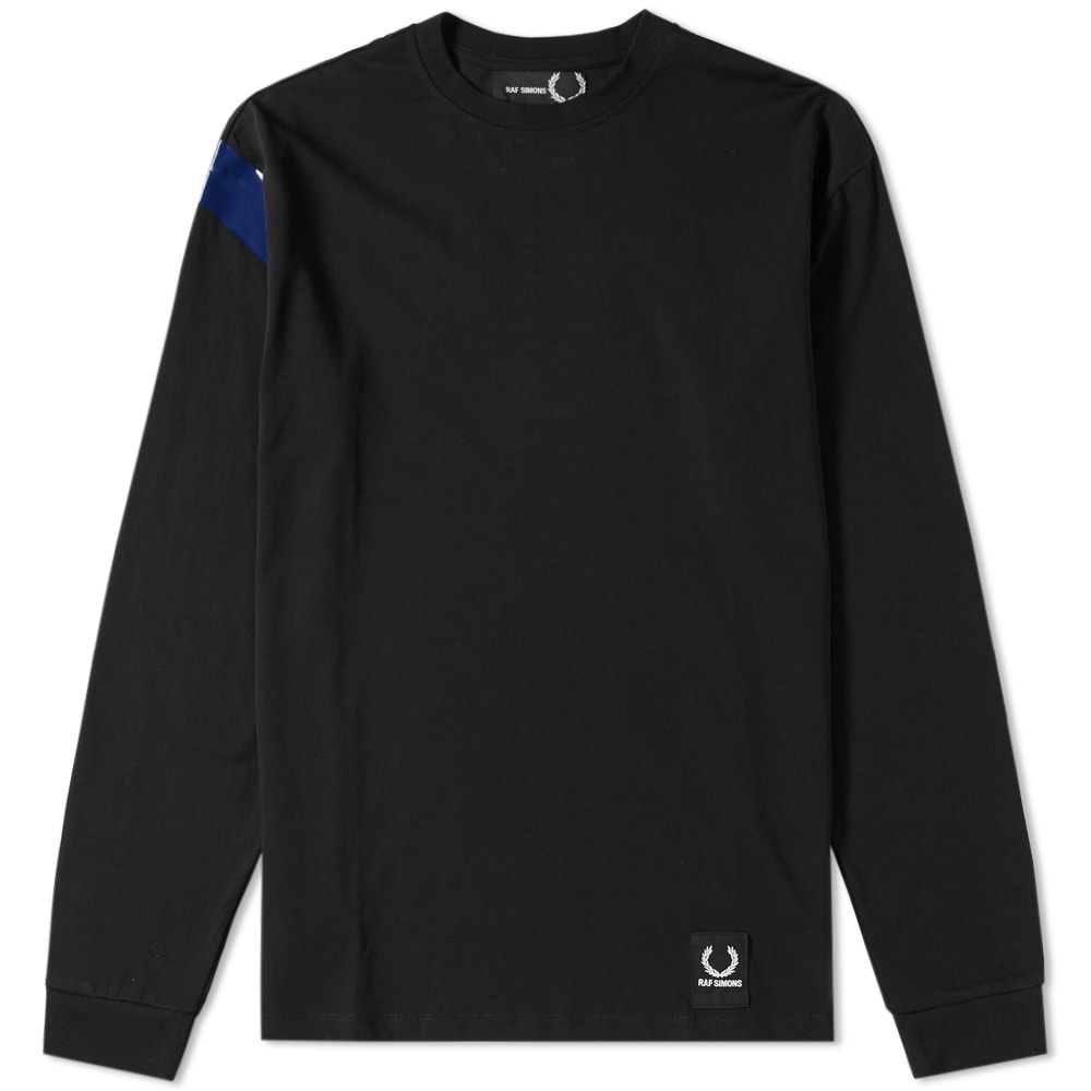 FRED PERRY X RAF SIMONS LONG SLEEVE TAPE DETAIL TEE