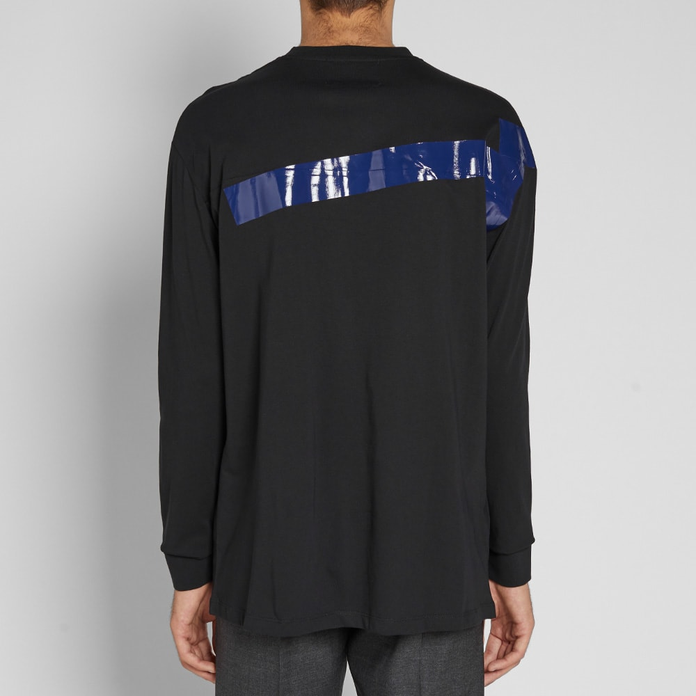 5be61f7f Fred Perry x Raf Simons Long Sleeve Tape Detail Tee Black | END.