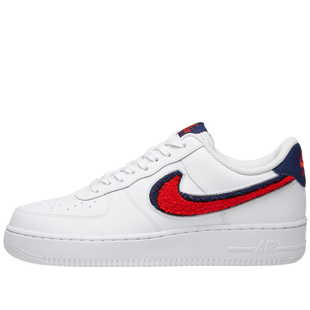 fd0ad8253 Nike Air Force 1 '07 LV8 White, Red & Blue | END.