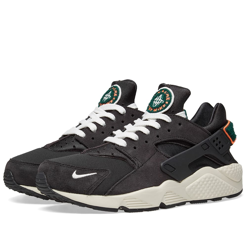 promo code c7e68 cf05a Nike Air Huarache Run Premium Grey, Sail   Rainforest   END.