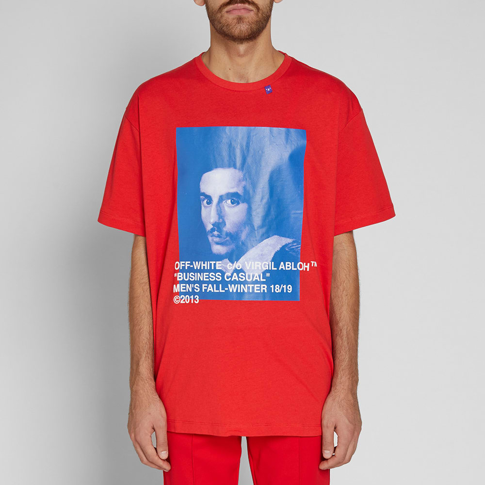 5c9d128f Off-White Bernini Oversized Tee Red & Blue | END.