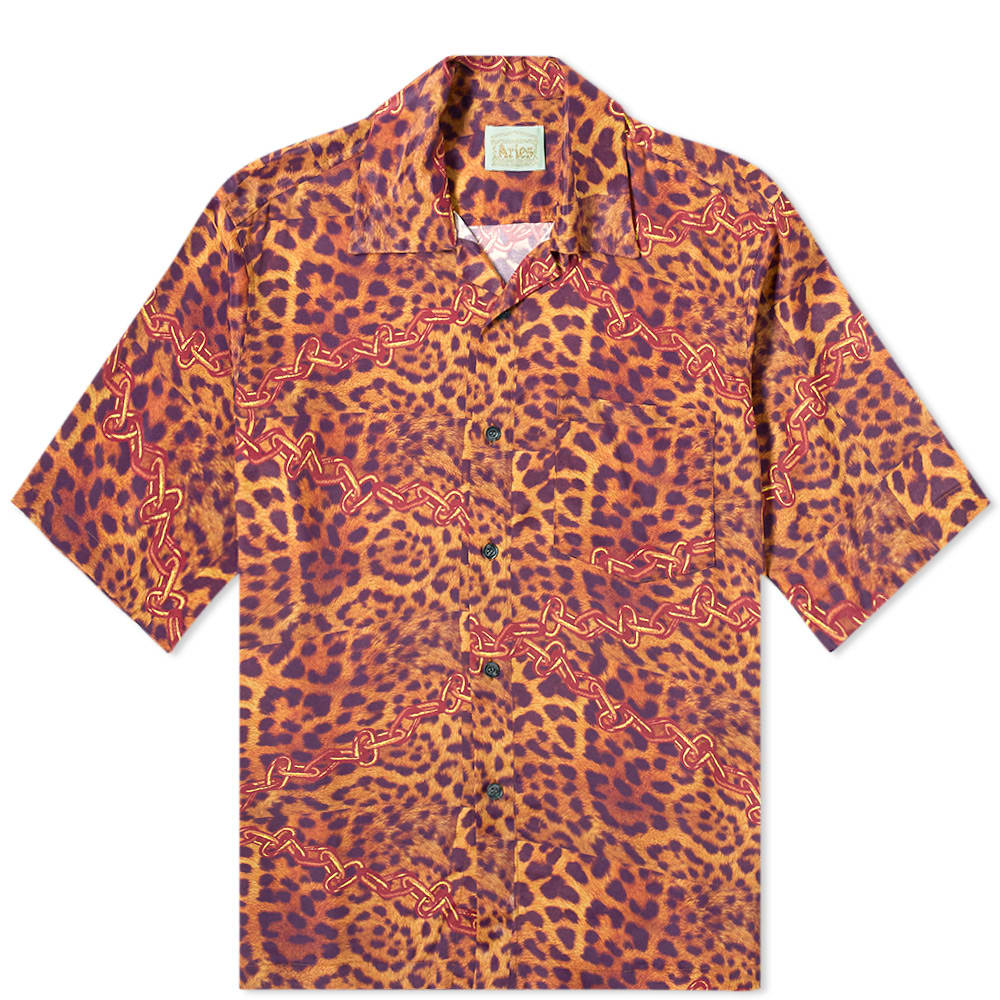 Aries Tops Aries Leopard Chains Hawaiian Shirt