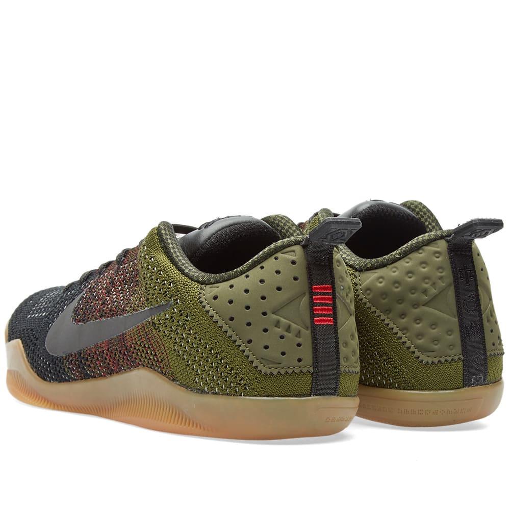 hot sale online 56427 ebc37 Nike Kobe XI Elite Low 4KB Black, Team Red   Rough Green   END.