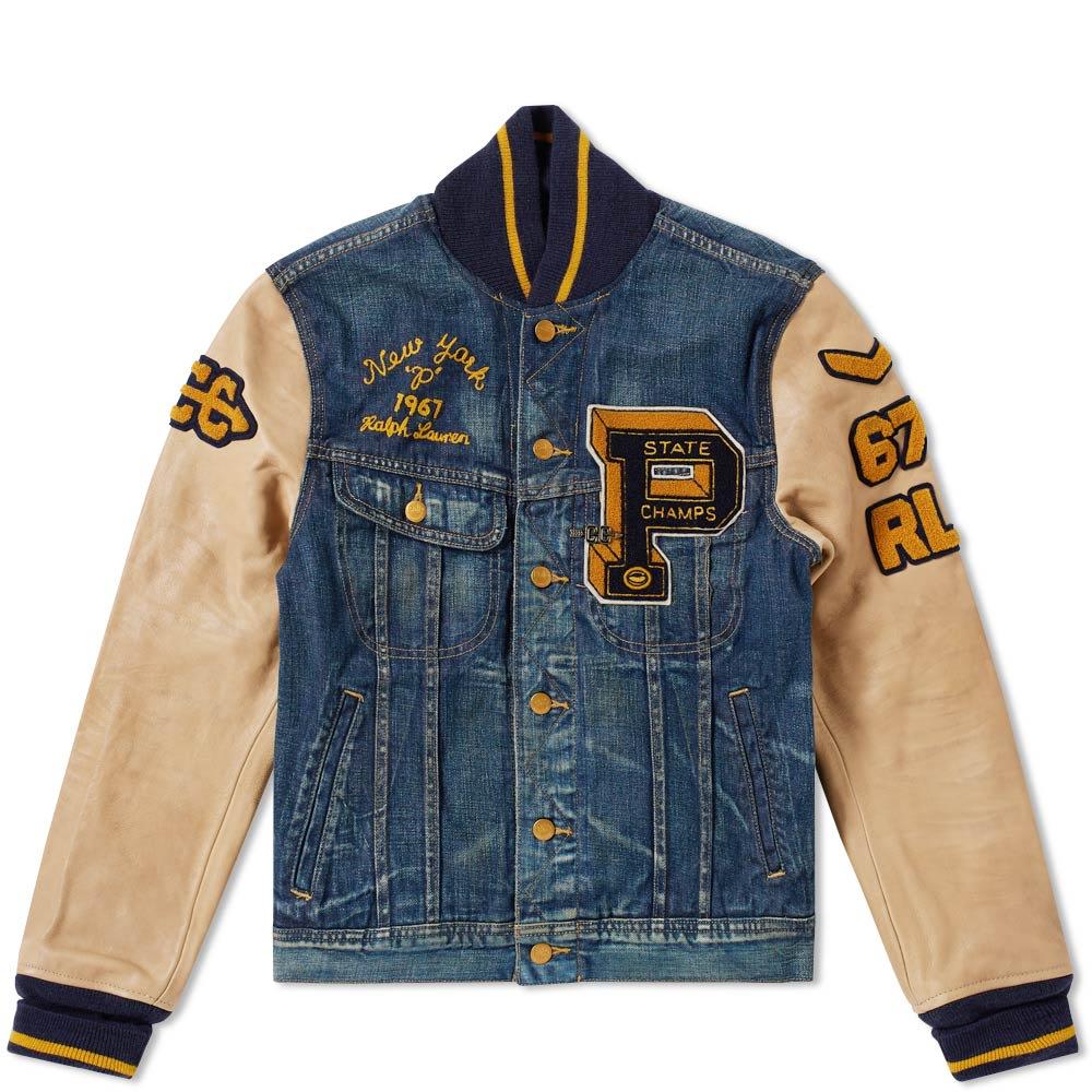 Polo Ralph Lauren Vintage Varsity Jacket in Blue for Men