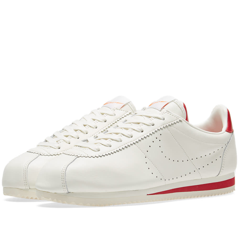 49eaeddeaffd Nike Classic Cortez Leather Premium Sail   Gym Red