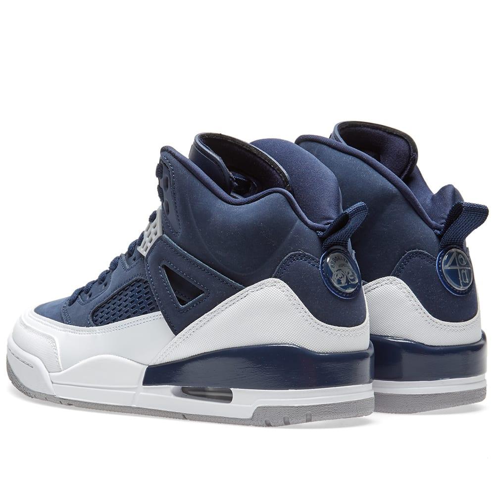 sports shoes ceb8d 3be42 Nike Jordan Spizike Midnight Navy, Silver   White   END.