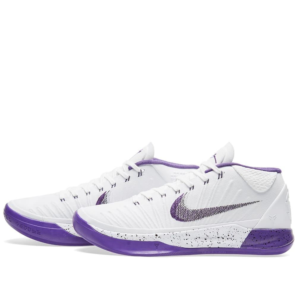 quite nice d5209 dc031 Nike Kobe A.D. 1 White, Court Purple   Black   END.