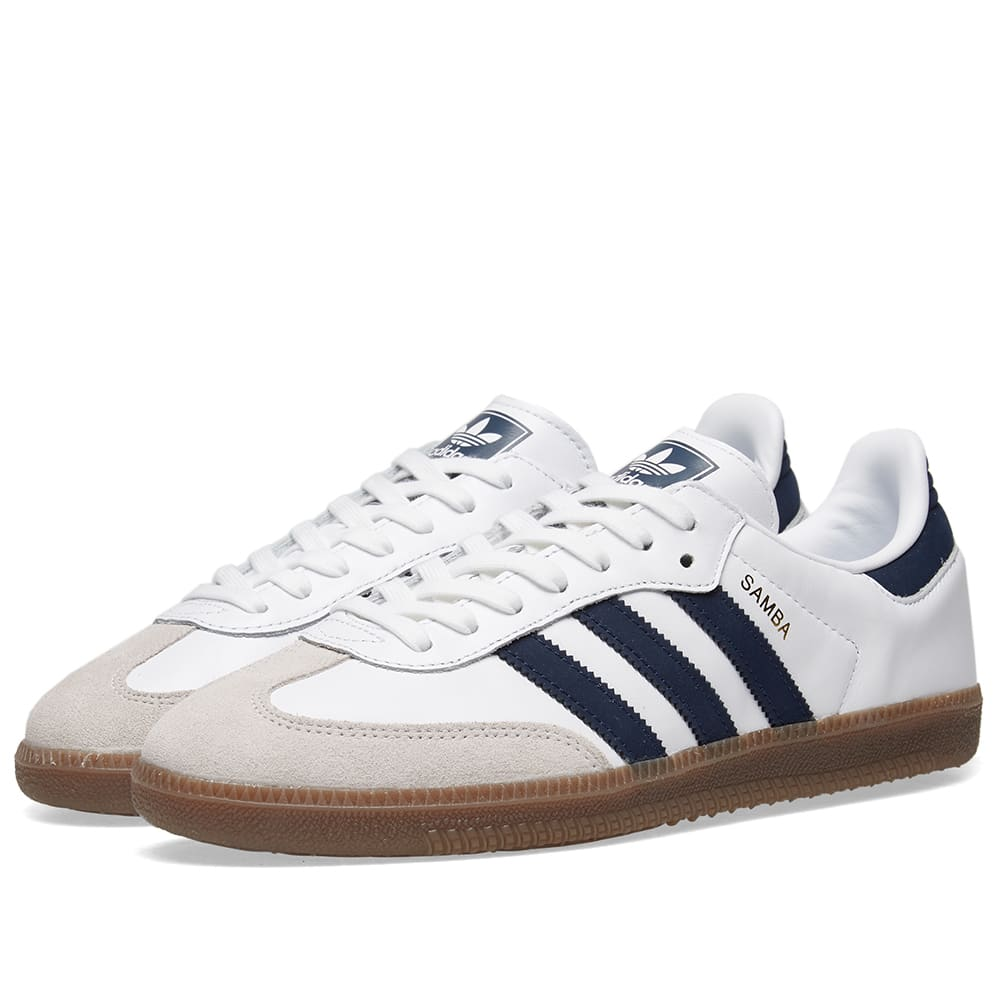 pretty nice dfe41 bb63e Adidas Samba OG White   Navy   END.