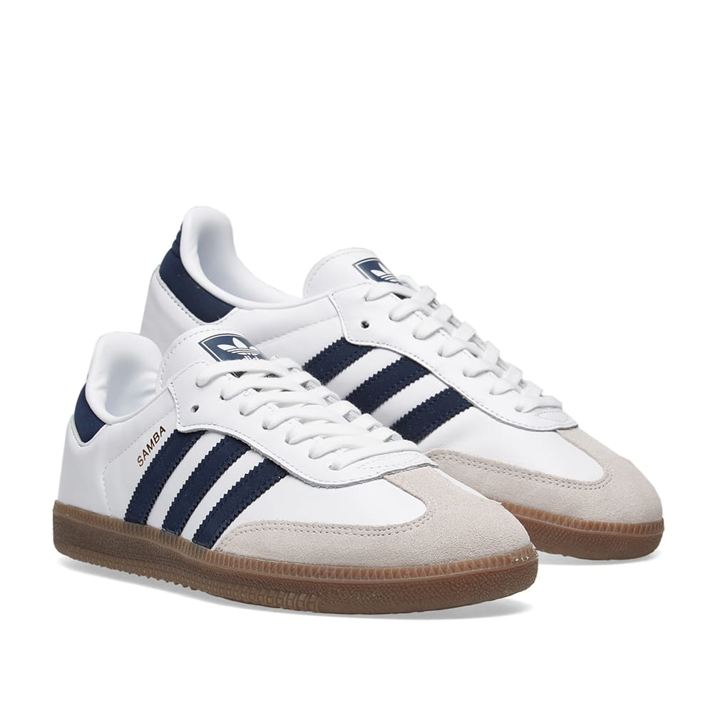 Adidas Samba OG White \u0026 Navy   END.