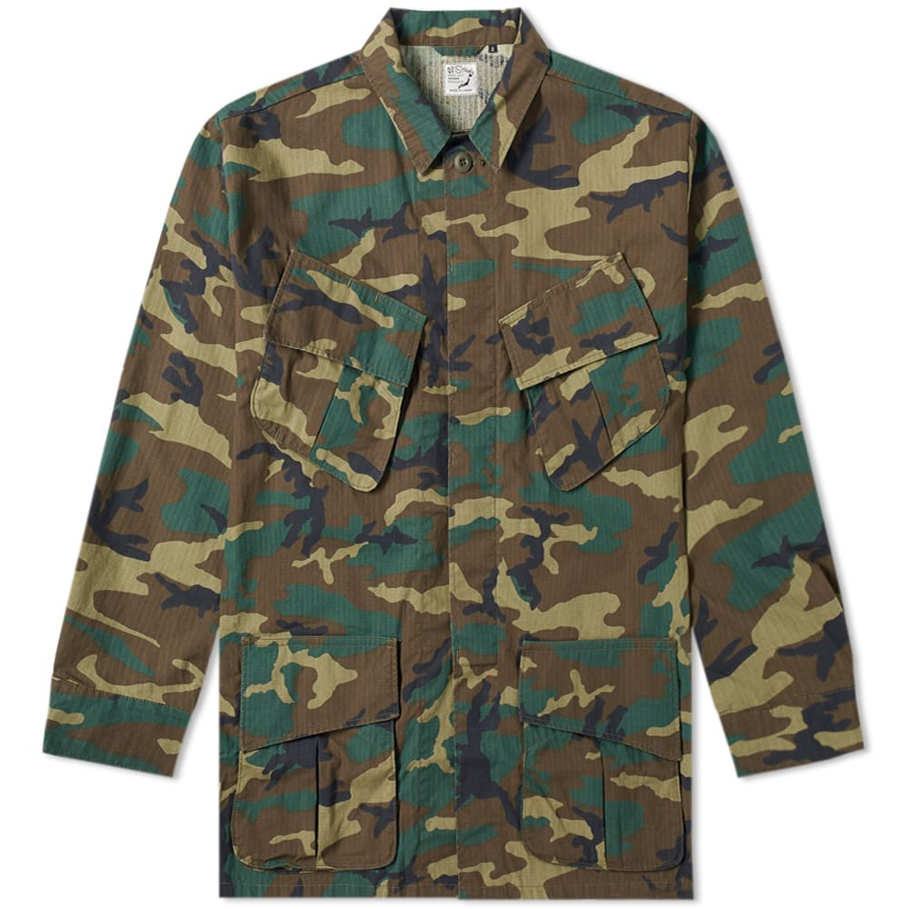 ORSLOW Camouflage-Print Cotton-Ripstop Field Jacket - Army Green