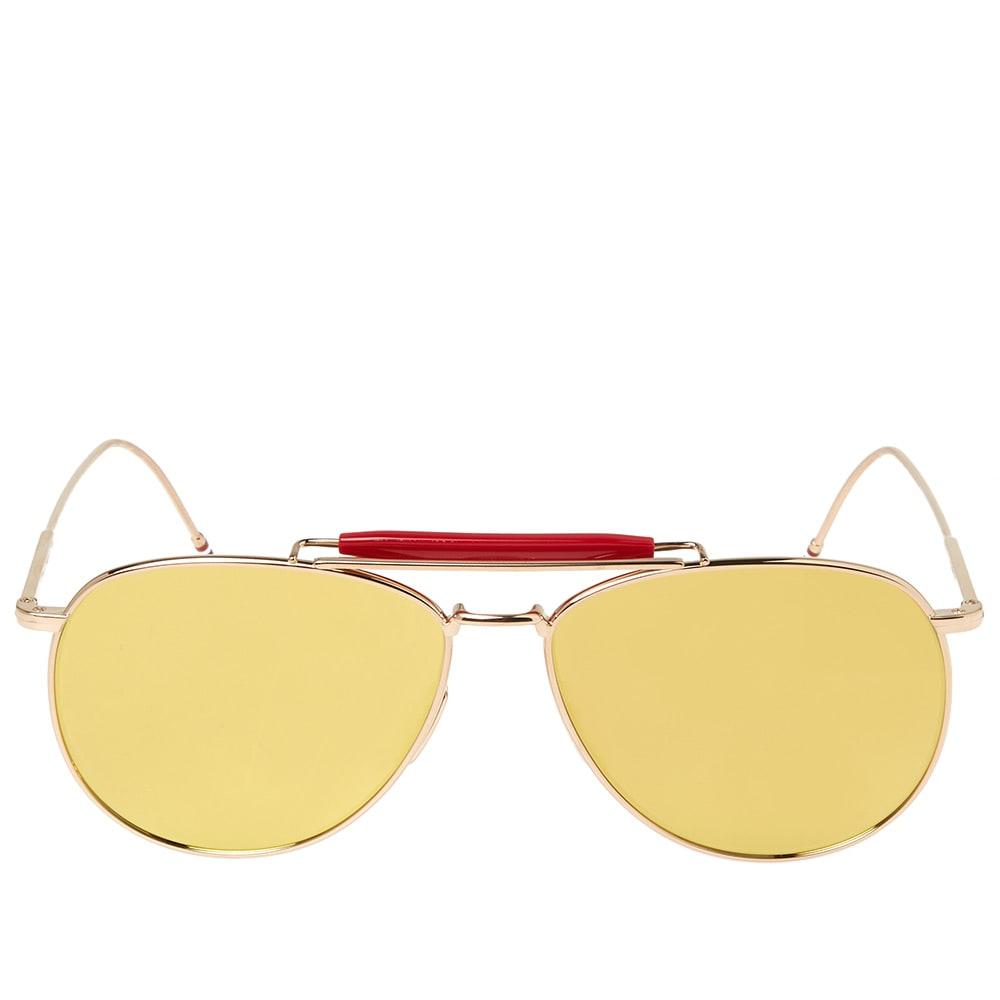 9e4ef4857584c Thom Browne TB-015 Sunglasses Gold