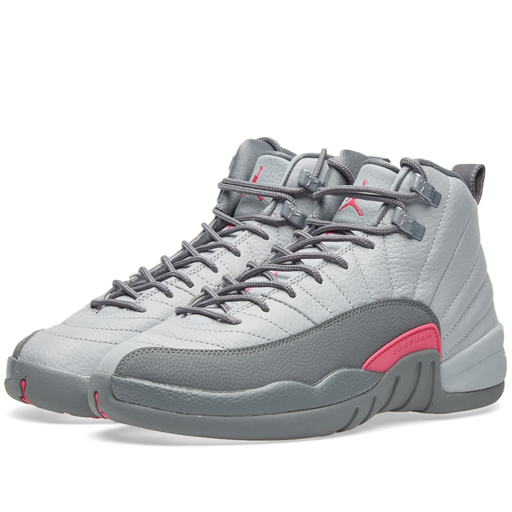 on sale 8419e 6f38c Nike Air Jordan 12 Retro GG Wolf Grey   Vivid Pink   END.