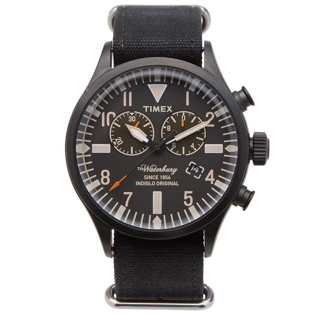 TIMEX ARCHIVE Timex Archive Waterbury Chrono Watch in Black
