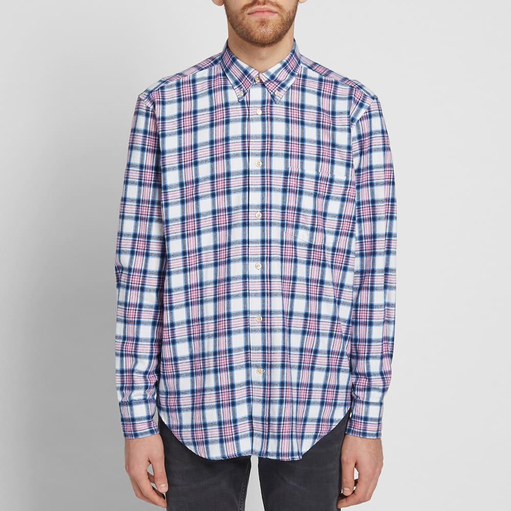 Prix D'usine Button-down Collar Checked Cotton-flannel Shirt - BlueOur Legacy Images De Dégagement Ua7r5dJYp9