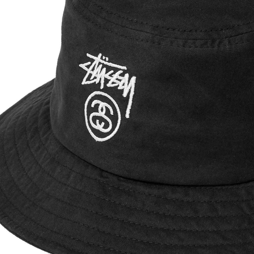 b832339e81f Stussy Stock Logo Bucket Hat Black