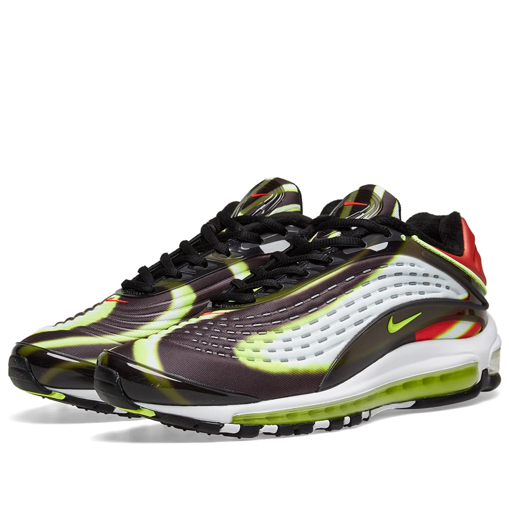 Velo Jajaja Correspondiente a  Nike Air Max Deluxe Black, Volt, Red & White | END.
