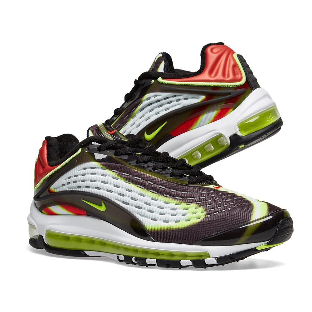 4449f37061 Nike Air Max Deluxe Black, Volt, Red & White   END.