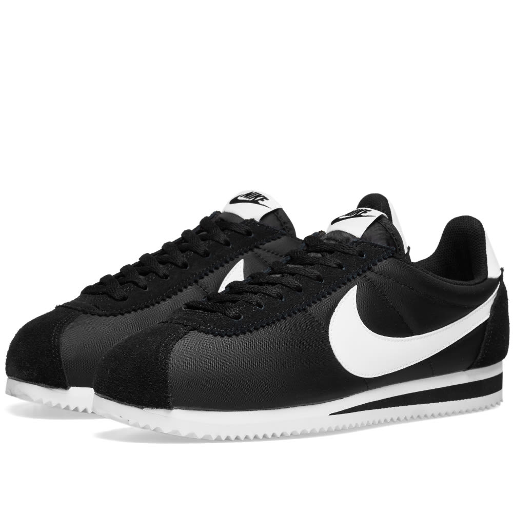 separation shoes 3d7e3 7e9c6 Nike Classic Cortez Nylon OG Black   White   END.