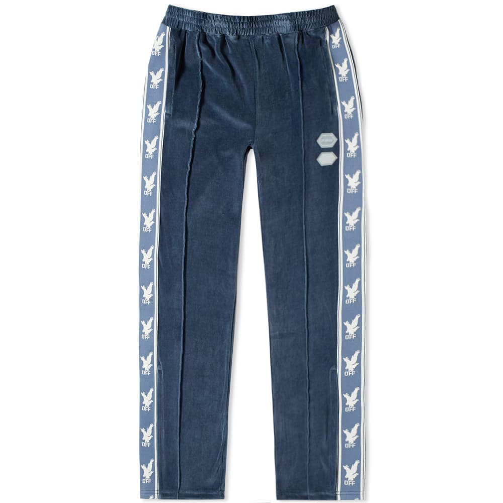 Off-white Blue Men's Velour Track Pant
