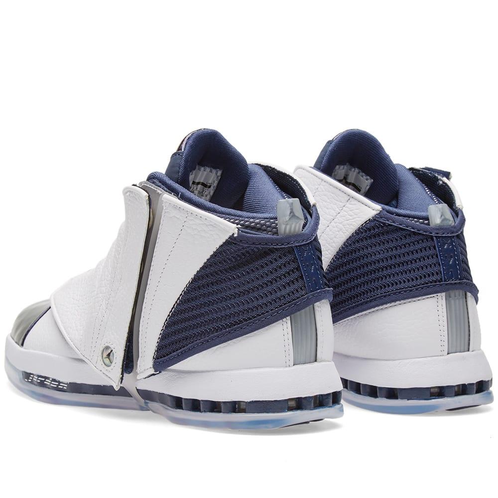 brand new 3c55b 42558 Nike Air Jordan 16 Retro White   Midnight Navy   END.