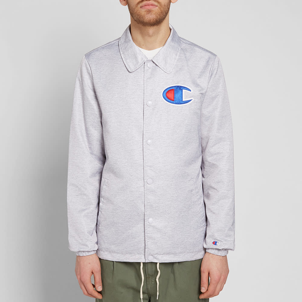 a7dbf80c9 Champion Reverse Weave Coach Jacket Grey Melange | END.