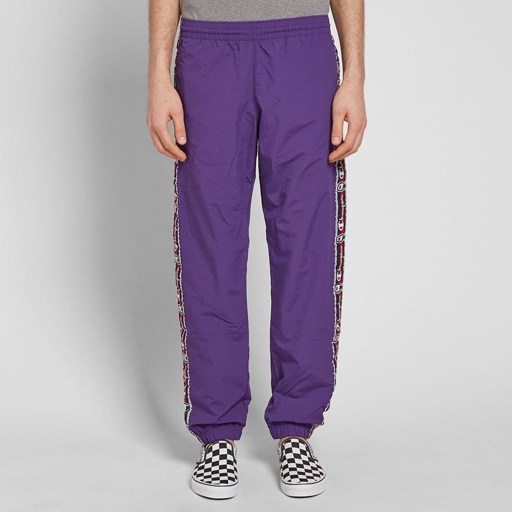 afba98a196f7 Champion Reverse Weave Vintage Taped Track Pant Purple Violet