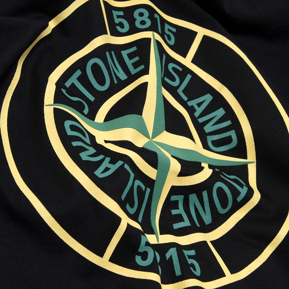 stone island compass logo tee black. Black Bedroom Furniture Sets. Home Design Ideas