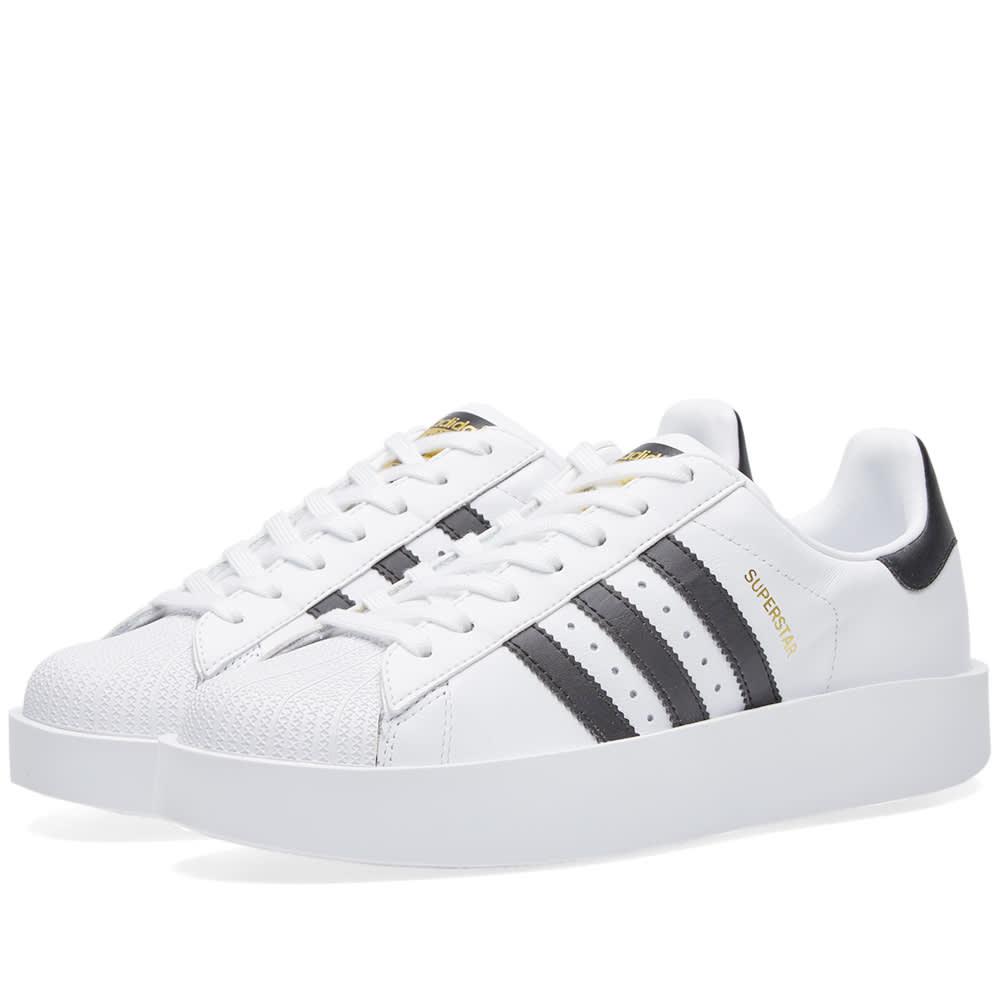 Adidas Originals Adidas  mujer 's Superstar Bold W, blanco modesens