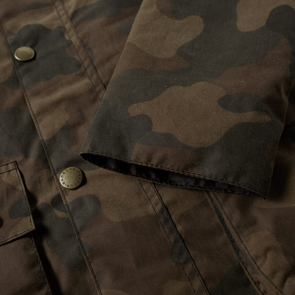 56b0d43ce96fa Barbour Heritage Waxed Camo SL Bedale Jacket Olive Camo | END.