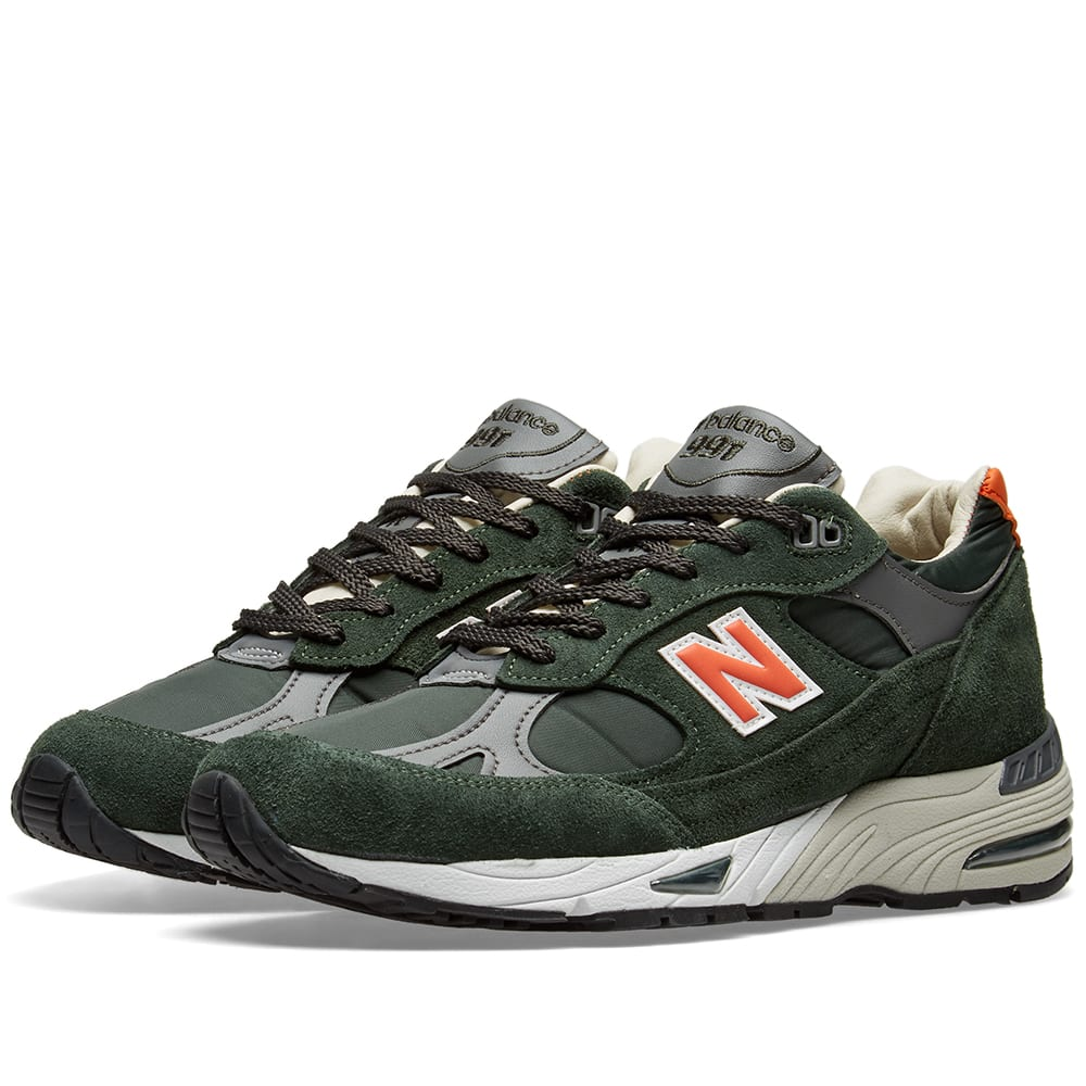 online store 3c26b be194 New Balance M991TNF - Made in England Green   Orange   END.