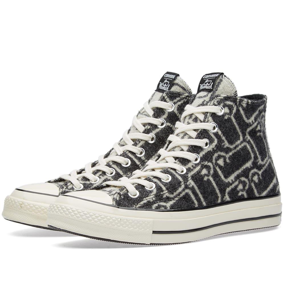 c6877cb11be94d Converse x Woolrich Chuck Taylor All Star 1970s Hi Black   White