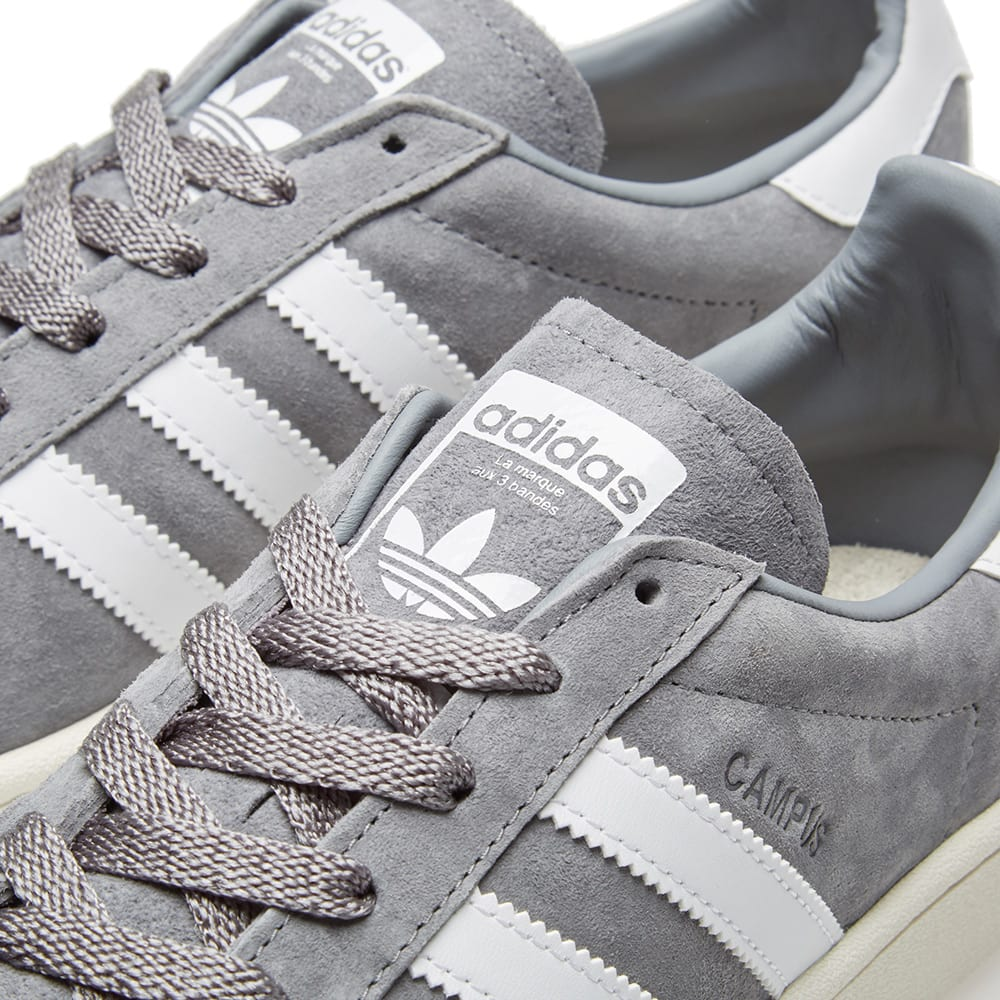 huge selection of ca6e3 bb9d7 Adidas Campus Grey   White   END.