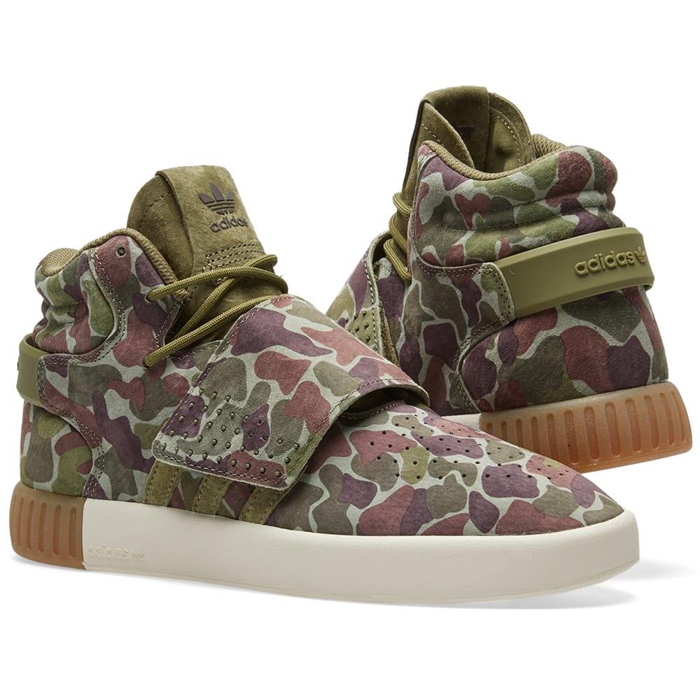 adidas Originals Tubular Invader Strap Camouflage Sneaker