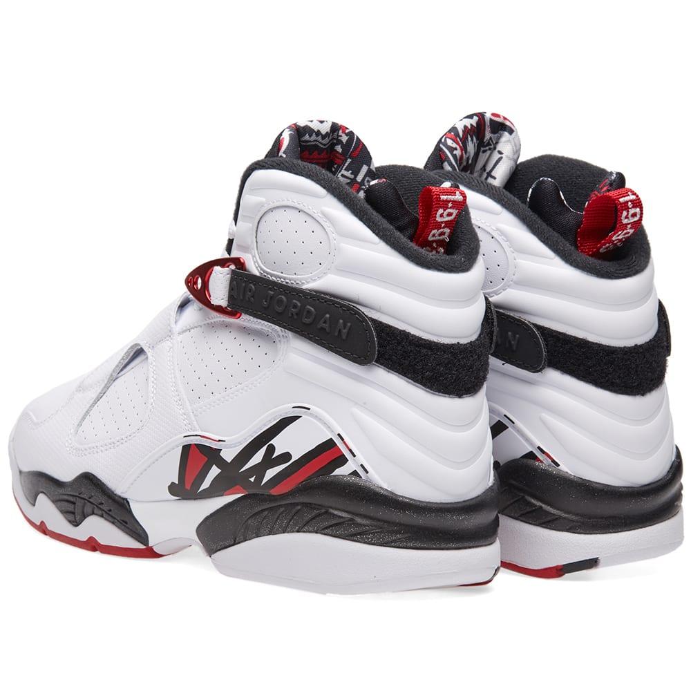 save off be135 0c6f2 Nike Air Jordan 8 Retro White, Gym Red   Black   END.