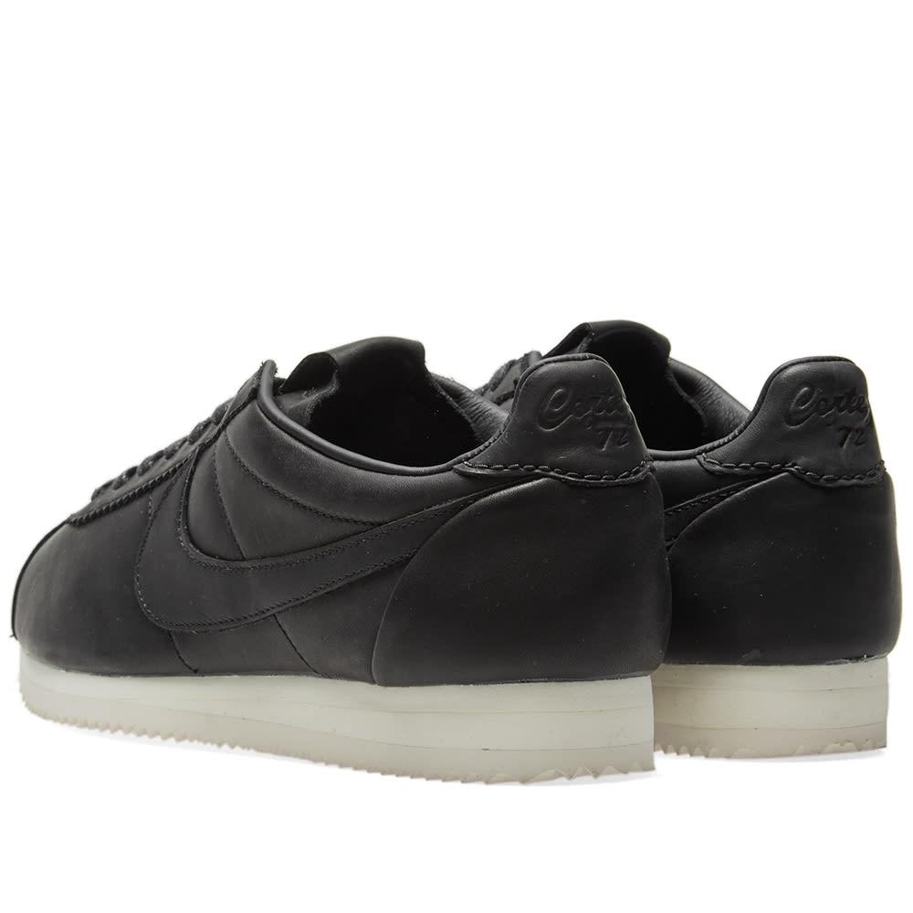 low priced 817bc 99ebd Nike Classic Cortez Premium QS TZ Black   Sail   END.