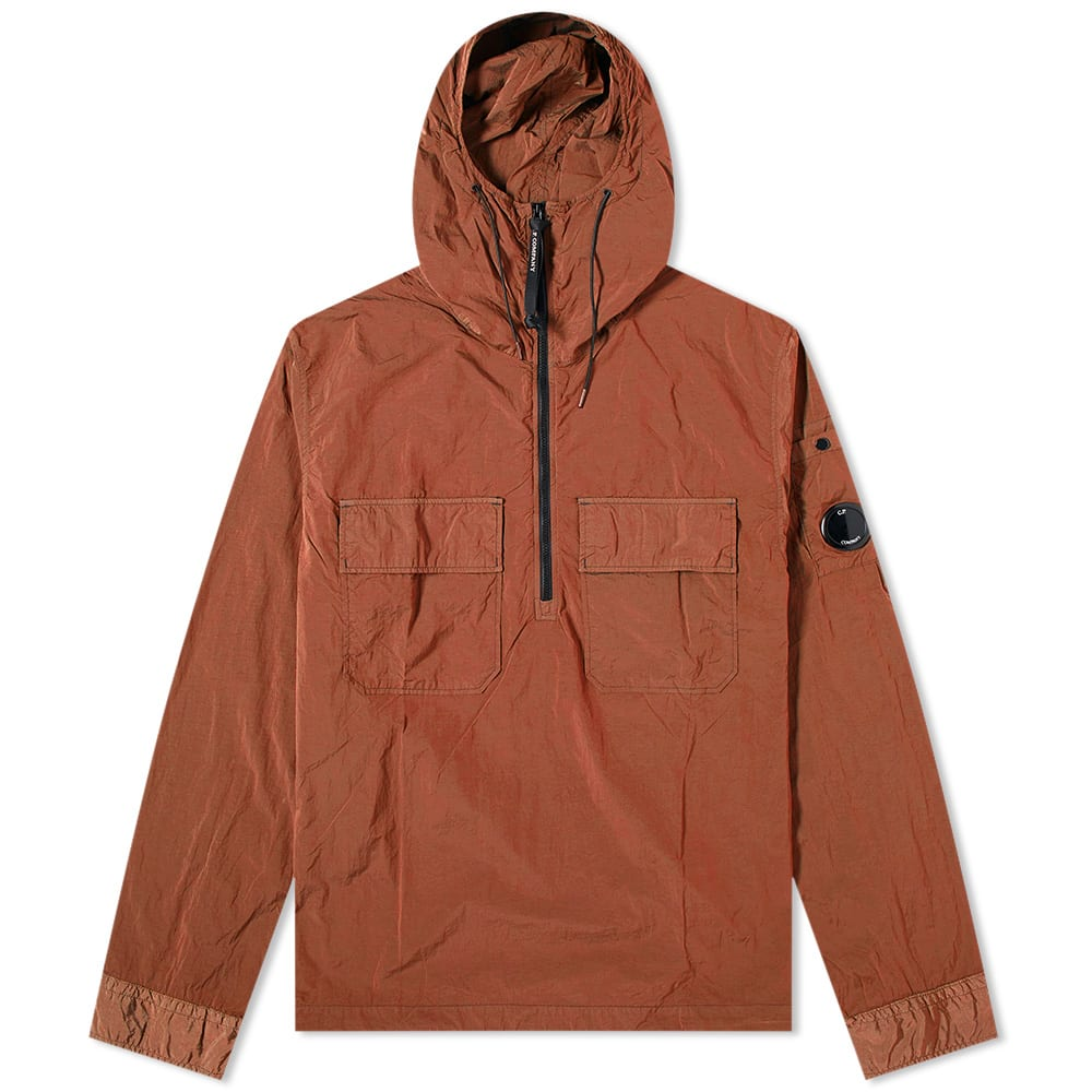 CP Company Orange Crewneck Sweatshirt With Arm Lens