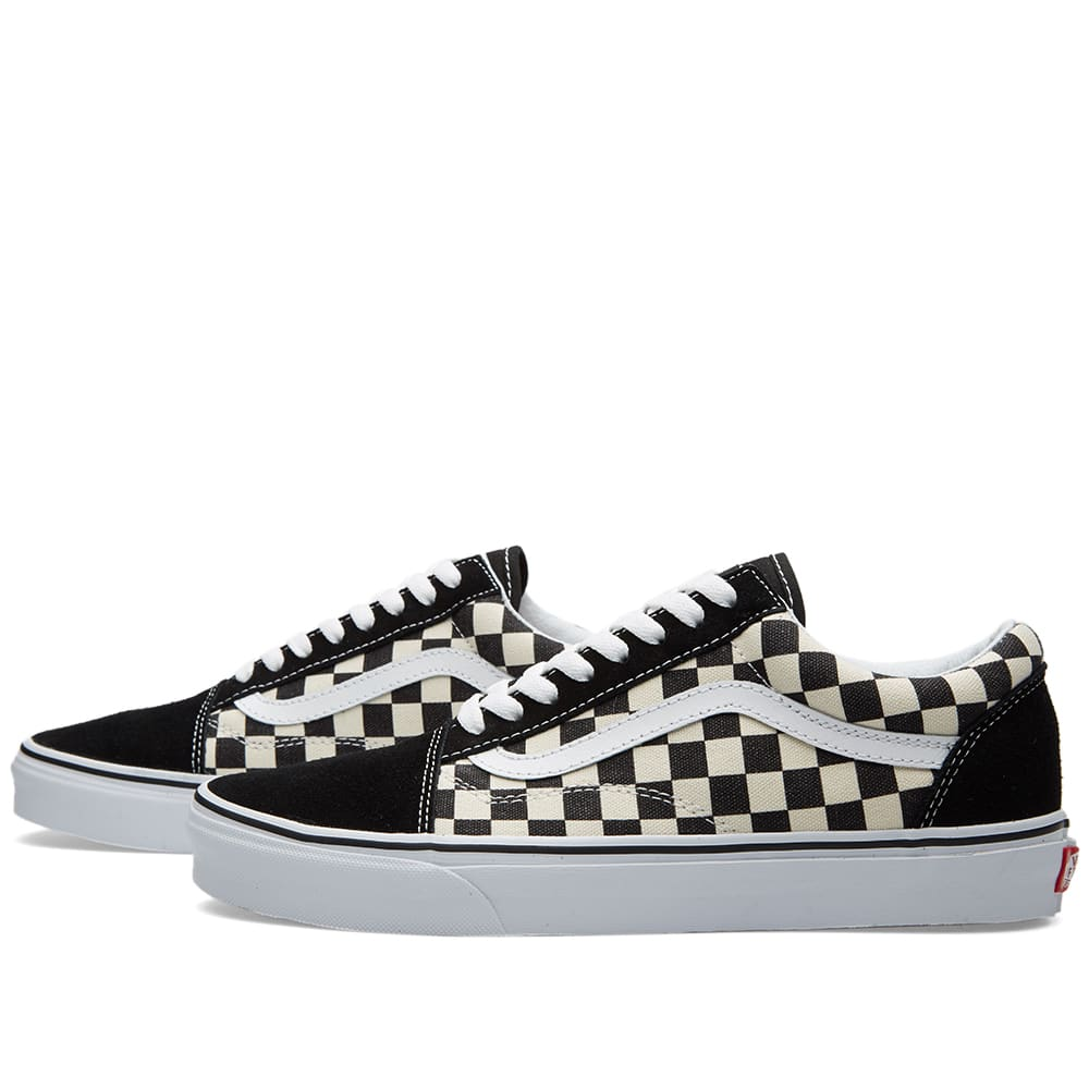 Shipping To China >> Vans Old Skool (Black & Espresso Checkerboard)