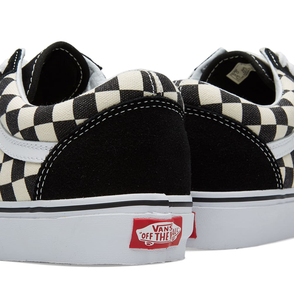 Vans Old Skool Black Amp Espresso Checkerboard