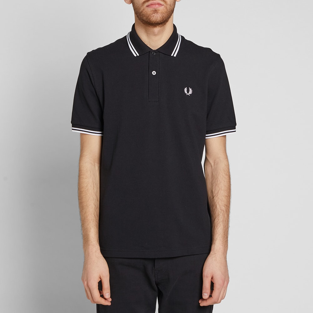fred perry reissues original twin tipped polo black white. Black Bedroom Furniture Sets. Home Design Ideas