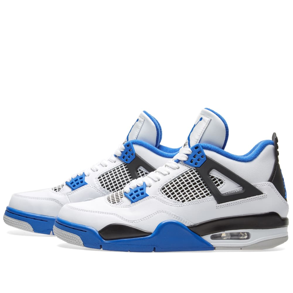 promo code 3d54e 5613f Nike Air Jordan 4 Retro  Motorsport  White, Game Royal   Black   END.