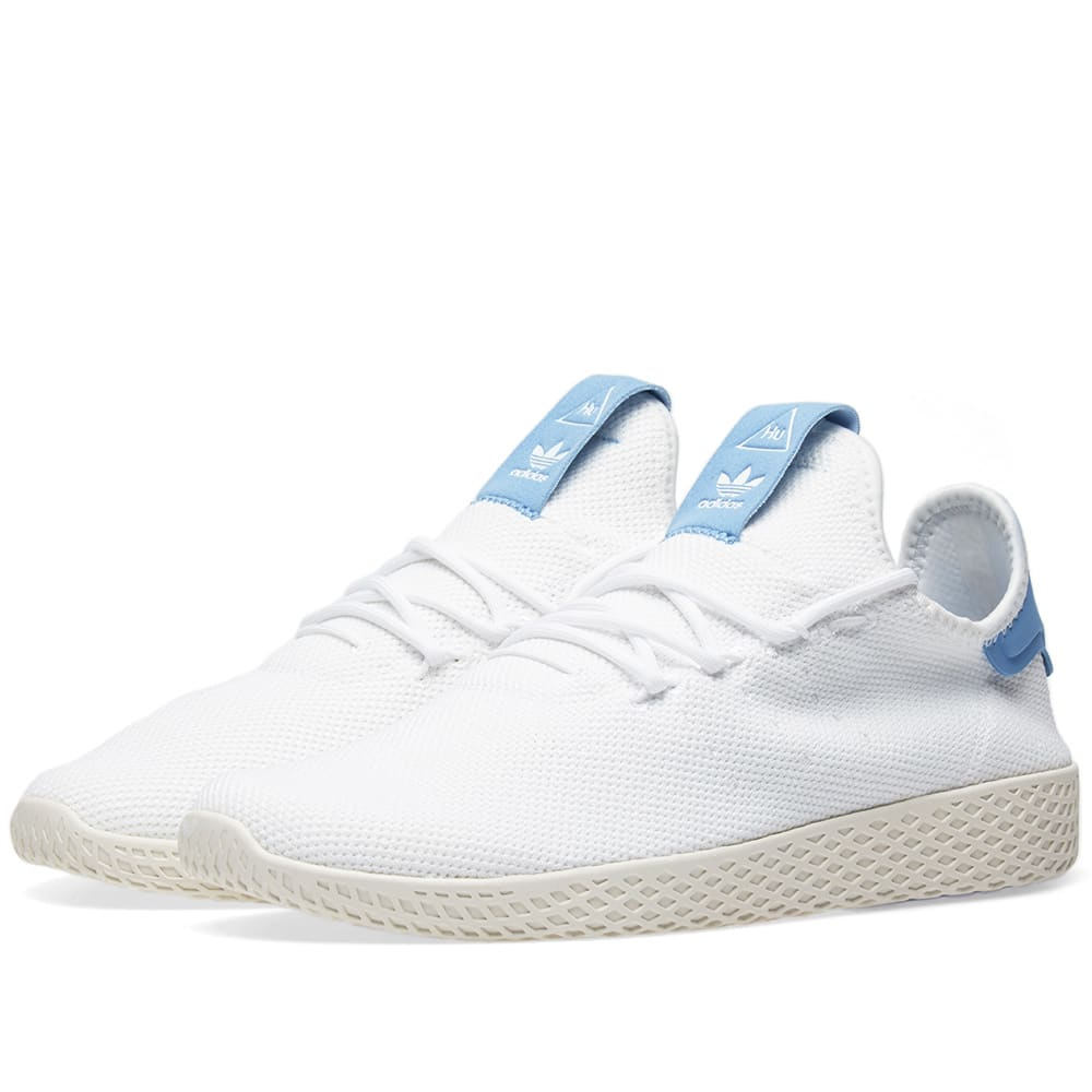 aed344e994b75 Adidas x Pharrell Williams Tennis Hu White   Blue