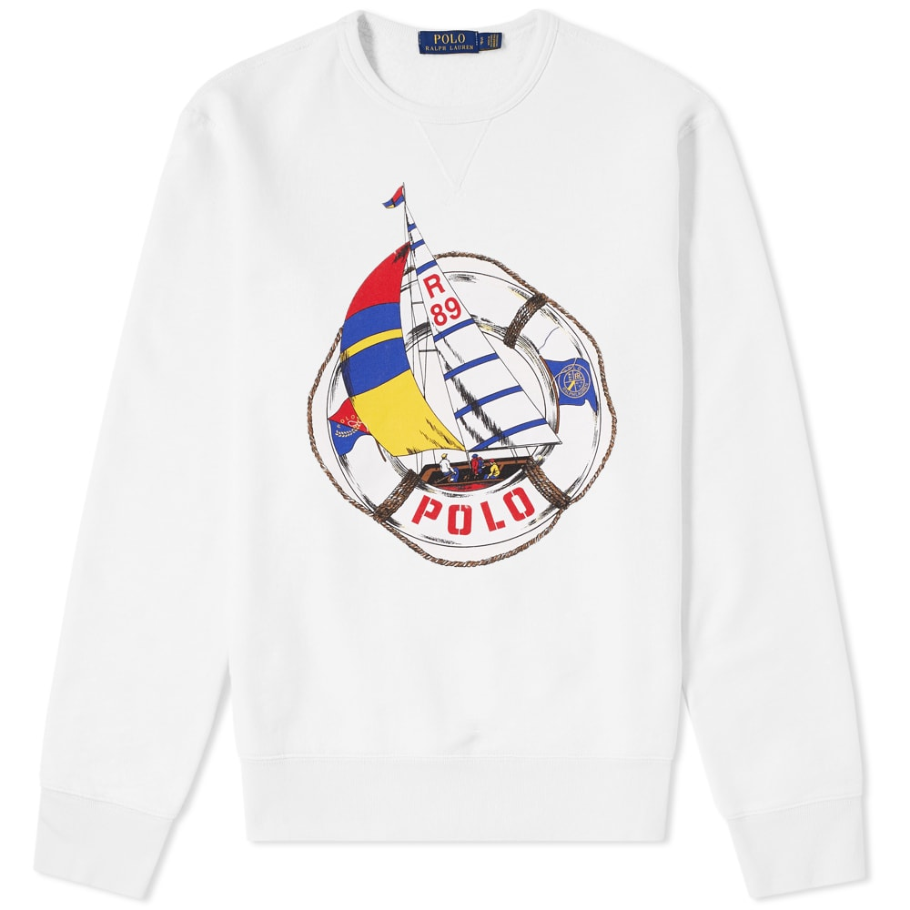 Lauren Crew Cup Ralph Americas Sailboat Polo Sweat Print bf76gy