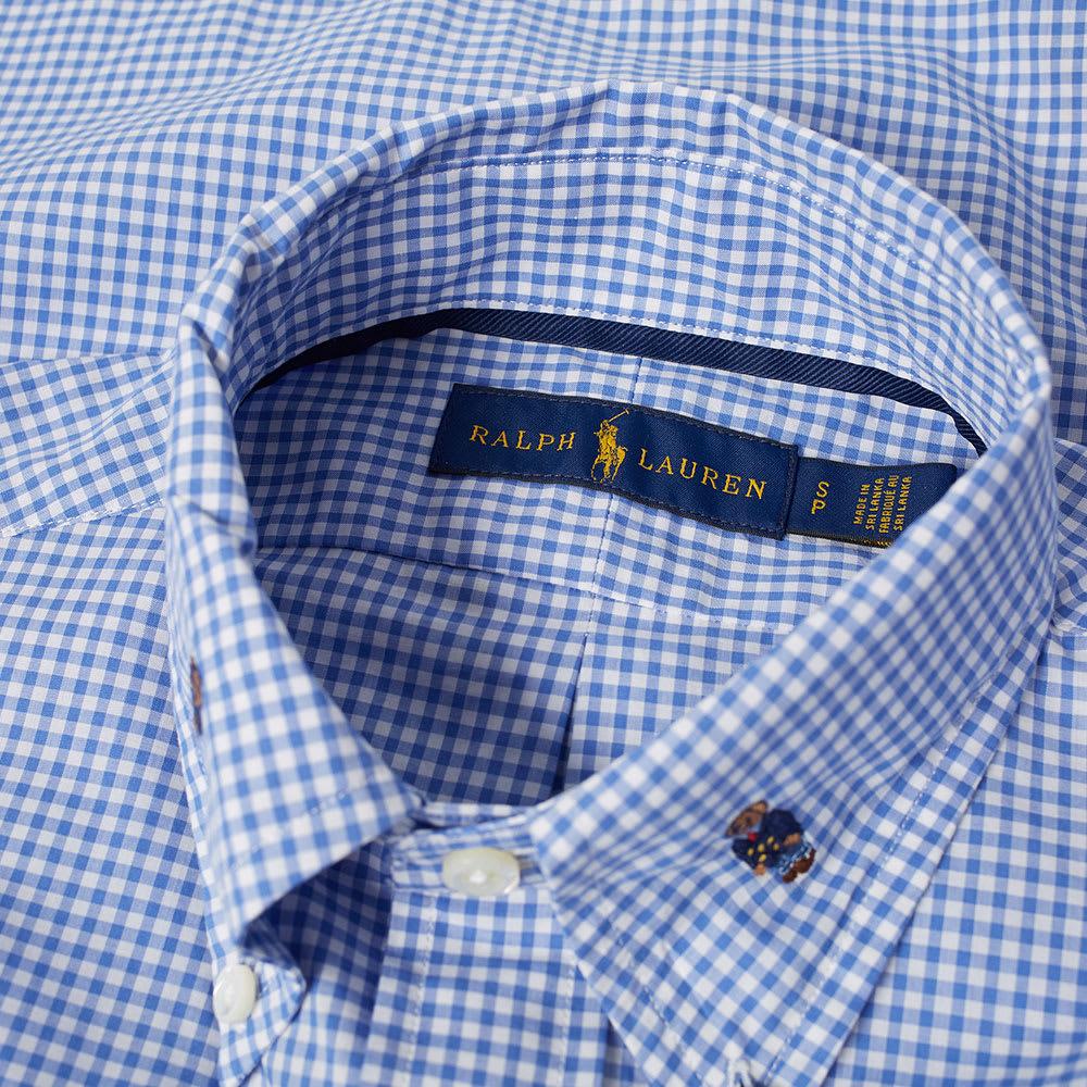 Shirt Gingham Jacquard Lauren Ralph Bear Polo Poplin dCthQrsx