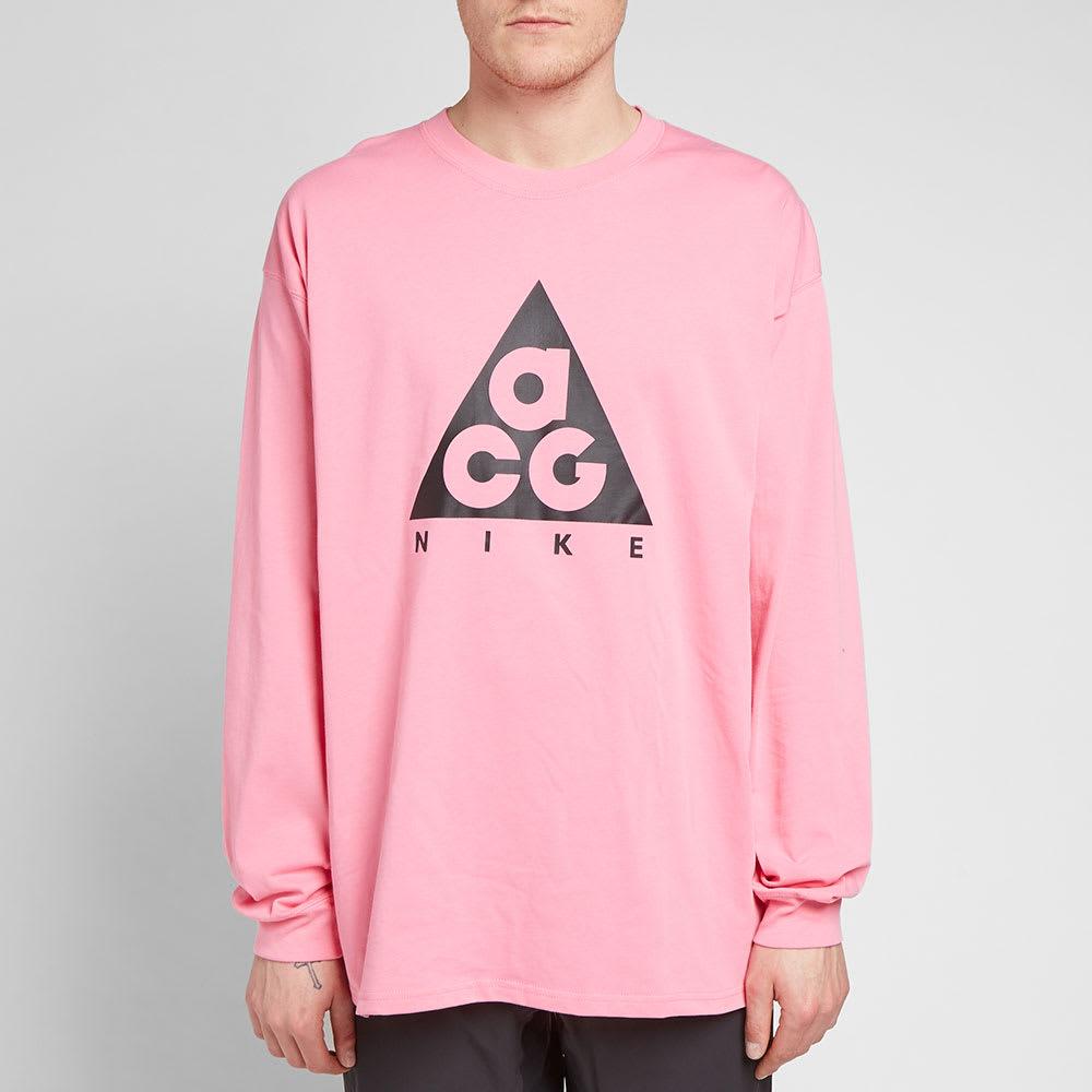 b7966c89 Nike Long Sleeve ACG Logo Tee Lotus Pink & Black | END.